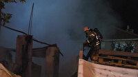 İstanbul Sancaktepe'de mahalleliyi sokağa döken yangın