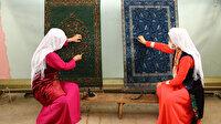 Kırgız kadınların kültürlerini ilmek ilmek işlediği halılar Van'dan Avrupa'ya gönderiliyor