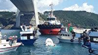 Yavuz Sultan Selim Köprüsü altında facia: Balıkçı teknesine gemi çarptı bir kişi hayatını kaybetti