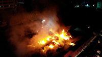 Küçükçekmece'de kağıt ambalaj fabrikasında çıkan yangın 5 saat sonra kontrol altına alınabildi