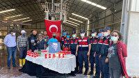 Kavga ihbarına gelen jandarma ekiplerine kutlama sürprizi