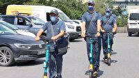 İstanbul'da elektrikli scooter'lı postacı dönemi