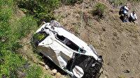 Giresun'da otomobil 90 metrelik uçuruma yuvarlandı: 2 ölü