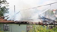 Antalya'da yangında mahsur kalan yaşlı kadını komşuları kurtardı