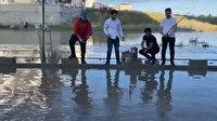 Tekirdağlı vatandaşlar göle dönen yolda balık tutarak CHP'li belediye başkanıyla dalga geçtiler