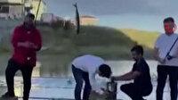 Tekirdağ Büyükşehir Belediyesi alay konusu oldu: Göle dönen yolda balık tutup mangal yaptılar