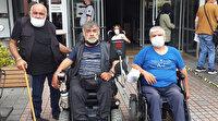 Büfede oturan engellilere sopalı saldırı