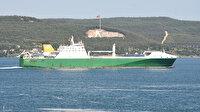 İngiltere devletine ait gemi Çanakkale Boğazı'ndan geçti