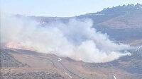 Fanatik Yahudiler Filistinlilere ait tarım arazilerini ateşe verdi