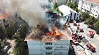 Bağcılar'da ilkokulda yangın çıktı