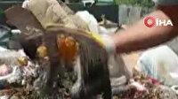 Çöpe atılan kediyi belediye personeli kurtardı