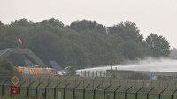 Hollanda'da Belçika'ya ait F-16 savaş uçağı kalkış sırasında binaya çarptı: 2 yaralı