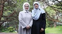 Emine Erdoğan Mescid-i Aksa'nın gönüllü muhafızı Hatice Huveys'i kabul etti