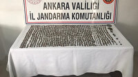Ankara'da büyük operasyon: Roma ve Bizans dönemine ait 1016 sikke, at heykeli ve yüzük ele geçirildi
