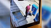 Üsküdar'da kablo hırsızına mahalle sakininden dayak