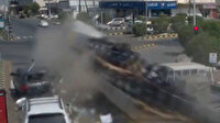 Suudi Arabistan'da feci kaza: TIR kırmızı ışıkta bekleyen araçları biçti