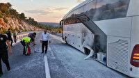 Muğla'da faciadan dönüldü: Turistleri taşıyan otobüste yangın paniği