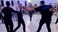Burdur'da arkadaşlarının düğününe katılan bekçilerden muhteşem zeybek performansı