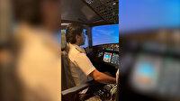 Pilotun Zuhruf Suresi'nden ayetler okuduğu anlar dinleyenleri mest etti