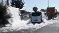 Sancaktepe'de yollar şelaleye döndü