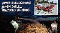 Çumra Dedemoğlu'daki yangını gönüllü itfaiyeciler söndürdü
