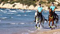 İzmir sahillerinin güvenliği jandarmanın atlı birliklerine emanet
