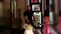 Alkollü kadın güvenlik görevlisinin parmağını kopardı