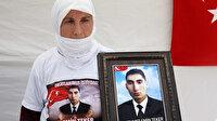 Evladı PKK tarafından dağa kaçırılan anne Muş'taki HDP binası önünde nöbette