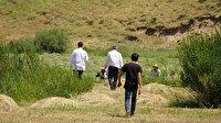 Dağları tepeleri aştılar: Sağlık çalışanları aşıya gidemeyen köylüleri tarlada aşıladı