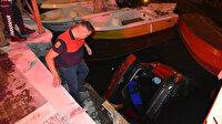 Kiralık araçla balıkçı teknelerinin üstüne uçtu