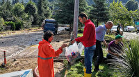 Türk Kızılayı Rize'de selden etkilenen vatandaşların yardımına koştu