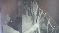 200 bin liralık gümüş çalan hırsızlar kamerada