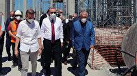 Cumhurbaşkanı Erdoğan Barbaros Hayrettin Paşa Camii inşaatında incelemelerde bulundu