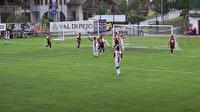 Hazırlık maçında 16 gol yediler attıkları gol sonrasında büyük sevinç yaşadılar