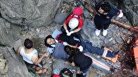 Uludağ'ın eteklerinde nefes kesen kurtarma operasyonu