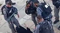 İşgalci İsrail askerleri Filistinli kadını sürükleyerek gözaltına aldı