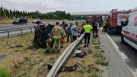 TEM Otoyolunda can pazarı: Gurbetçi aileden 6 kişi yaralandı