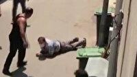 Bursa'da kaçan boğa kendisini yakalamak isteyen adamı yere serdi