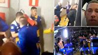 Boca Juniorslı oyuncular polisle kavga edip, hakem odasını bastılar
