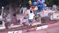 Yürek burkan ziyaretin sırrı ortaya çıktı: Çocuk mezarlarına tek tek balon bağlamıştı