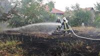 İtfaiyeciler bayram ziyaretini yarıda bırakıp yangına koştu