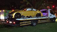 Kaza sonrası lüks otomobilini bırakıp kaçtı!
