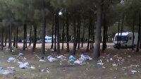 Sarıyer'de piknikçilerin bıraktığı çöpler vatandaşı utandırdı: Eğitim şart
