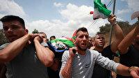 İşgalci İsrail askerlerinin vurduğu Filistinli çocuk son yolculuğuna uğurlandı