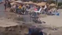 CHP'li Kuşadası Belediyesi sahildeki vatandaşlara aldırmadan lağım suyunu denize deşarj etti