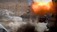 PKK'nın Afrin'deki sivil savunma merkezini vurduğu anlar kamerada