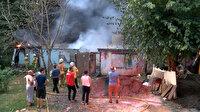 İstanbul Sarıyer'de kundaklama iddiası: İki gecekondu küle döndü