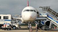 Samsun'da kuşa çarpan uçağın burnu hasar gördü