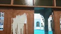 Denizli'de camiye çirkin saldırı: Boya dökerek tahrip ettiler