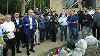 Numan Kurtulmuş Ermenistan'ın saldırılarında ağır kayıplar veren Gence'yi ziyaret etti